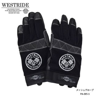 【WESTRIDE/ウエストライド】メッシュグローブ/TEXTILE GLOVE WR FOR BLK
