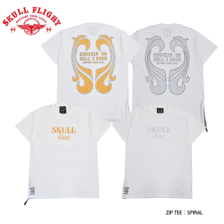 【SKULL FLIGHT/スカルフライト】Tシャツ/ZIP TEE:SPIRAL