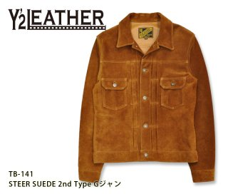 【Y'2 LEATHER/ワイツーレザー】レザージャケット/STEER SUEDE 2nd Type Gジャン/TB-141