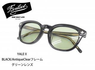 【EVIL ACT/イーブルアクト】サングラス/YALE� BLACK/AntiqueClearフレーム グリーンレンズ