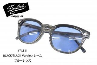 【EVIL ACT/イーブルアクト】サングラス/YALE�:BLACK/BLACK Marbleフレーム ブルーレンズ