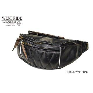 【WESTRIDE/ウエストライド】バッグ /RIDING WAIST BAG:HORSEHIDE BLACK