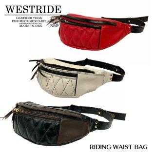 【WESTRIDE/ウエストライド】バッグ /RIDING WAIST BAG:COWHIDE RED