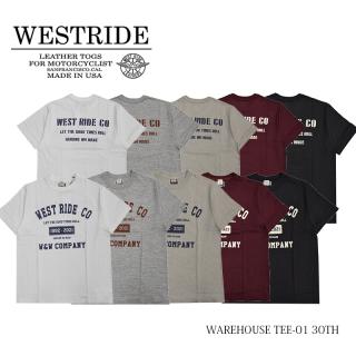 【WEST RIDE/ウエストライド】Tシャツ/WAREHOUSE TEE-01 30TH