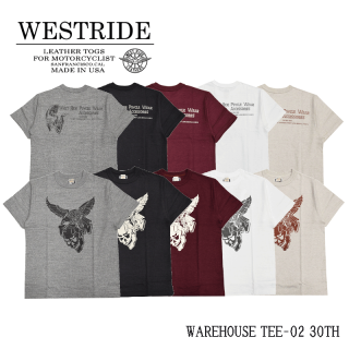 【WEST RIDE/ウエストライド】Tシャツ/WAREHOUSE TEE-02 30TH