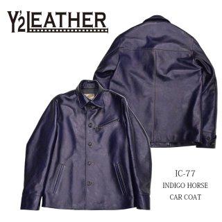 【Y'2 LEATHER/ワイツーレザー】レザージャケット/IC-77 INDIGO HORSE CAR COAT