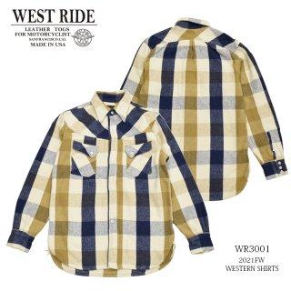 【WEST RIDE/ウエストライド】長袖シャツ/WR3001 2021FW:MB1701