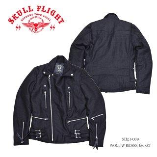 【SKULL FLIGHTスカルフライト】ジャケット/WOOL W RIDERS:SFJ21ー009