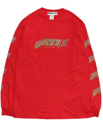 FRONT LOGO L/S TEE 【RED】
