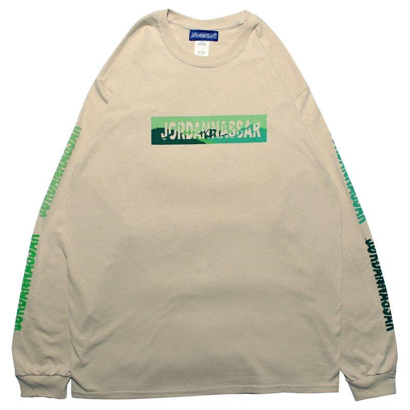 LANDSCAPE LOGO L/S 【SAND/GREEN】