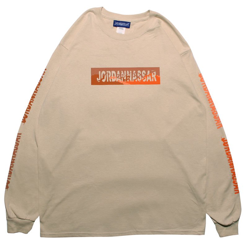 LANDSCAPE LOGO L/S 【SAND/ORANGE】