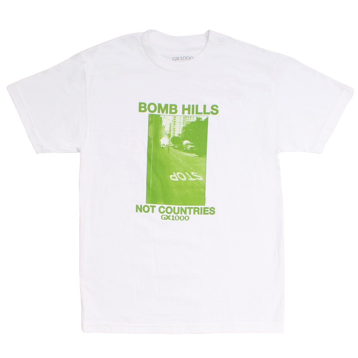 BOMB HILLS NOT COUNTRIES TEE 【WHITE】