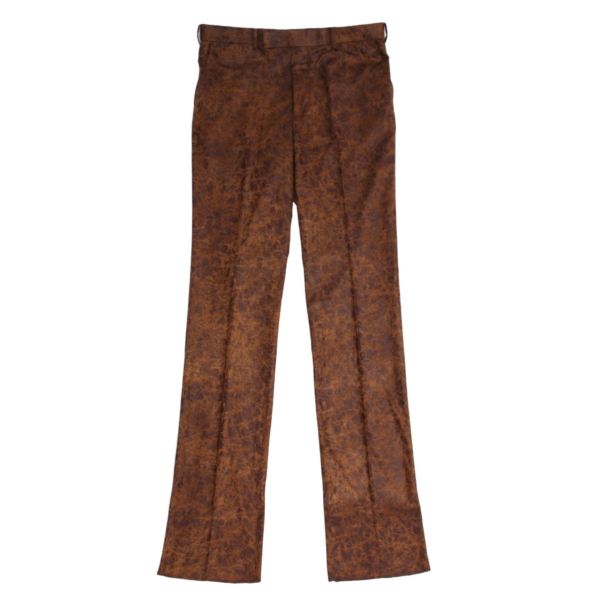 CRACKED COATING STRAIGHT TROUSERS