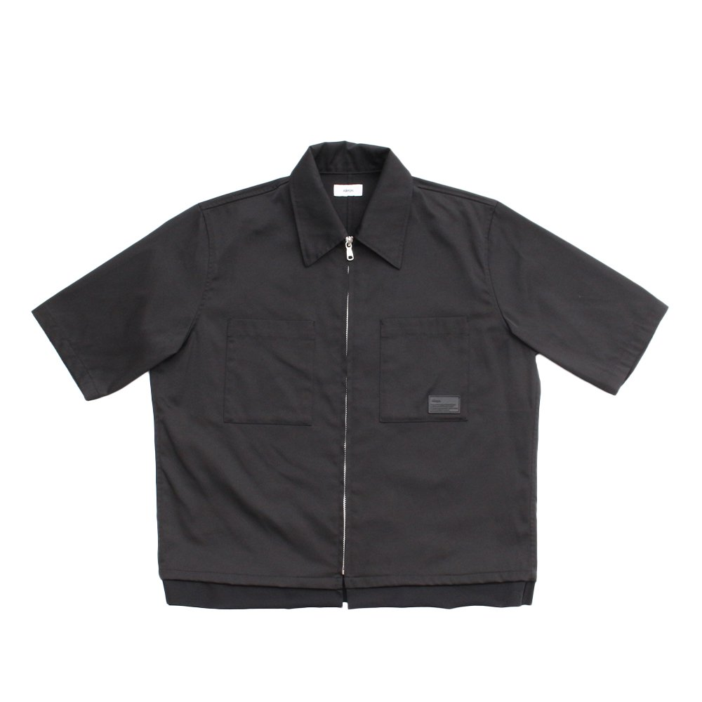 S/S ZIP SHIRT 【BLACK】