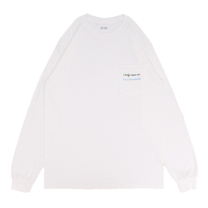 POCKET LOGO LONG SLEEVE TEE 【WHITE】