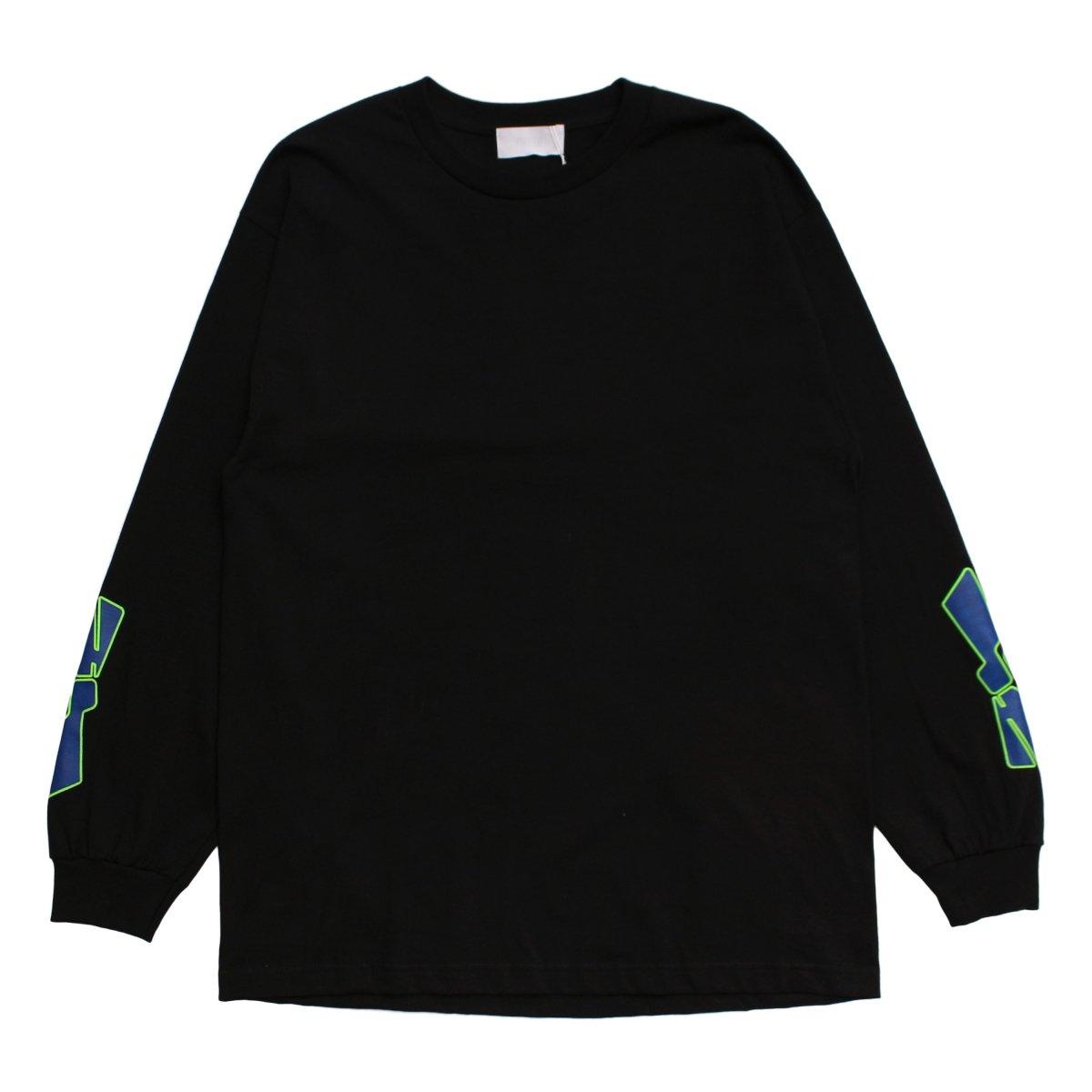 NUMBERRING LOGO L/S TEE 【BLACK】