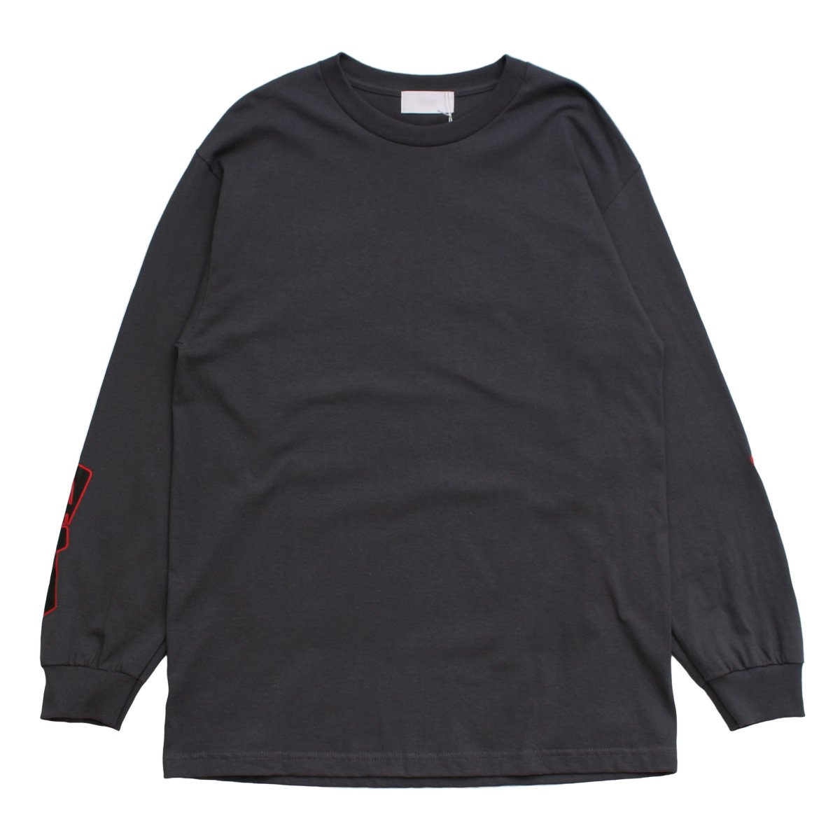 NUMBERRING LOGO L/S TEE 【CHARCOAL】