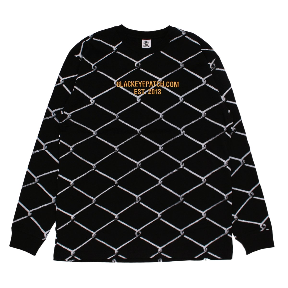 FENCED L/S TEE【BLACK】