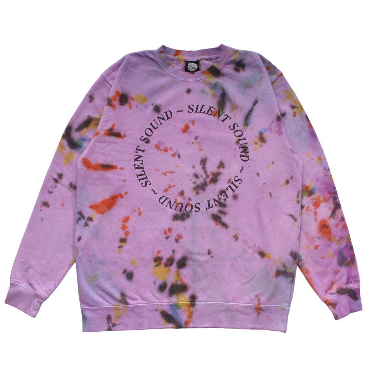 Crewneck Sweatshirt - Circle Logo【Melt Down (Hand Dye)】