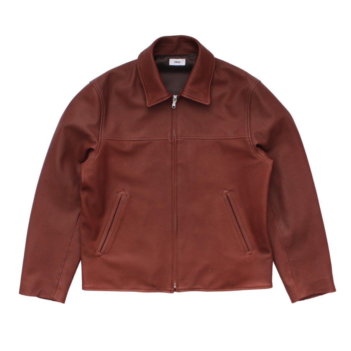 Leather Zip Blouson
