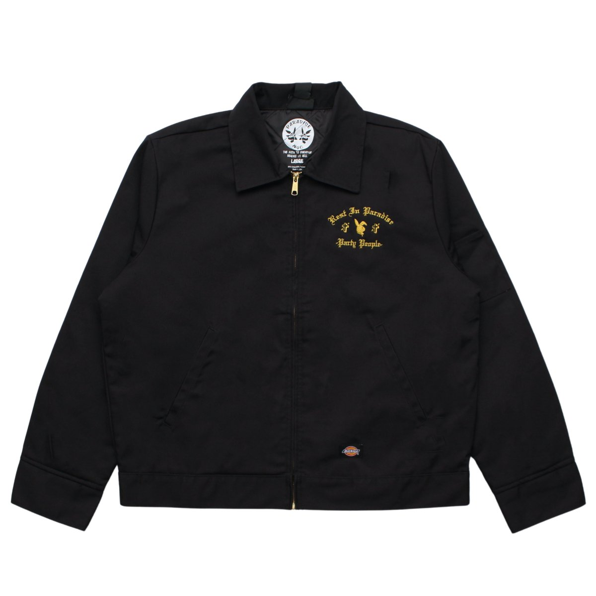 PARTY PEOPLE DICKIES (GOLD EMBROIDERY) 【BLACK】