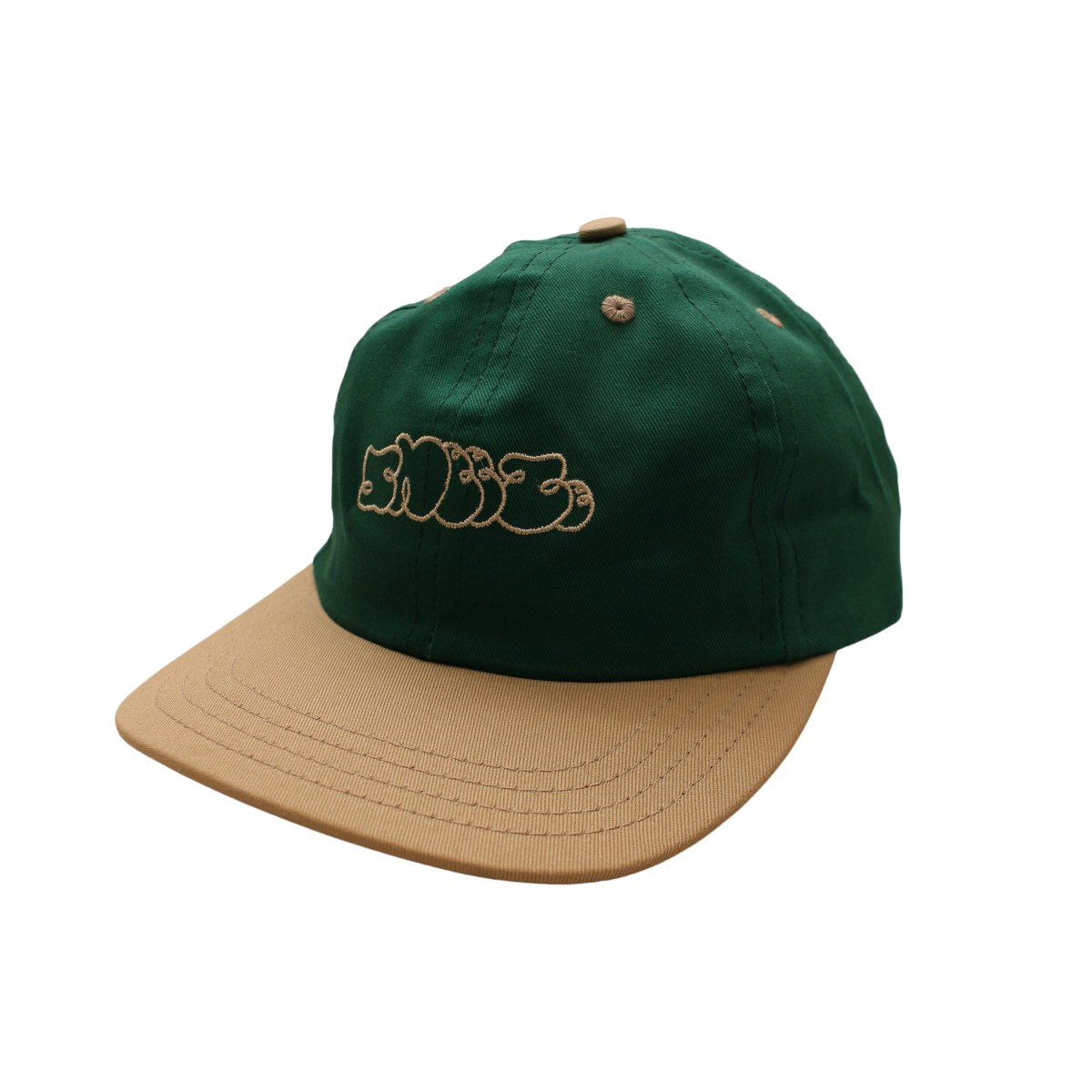 CLASSIC LOGO HAT【GEEN/NATURAL】