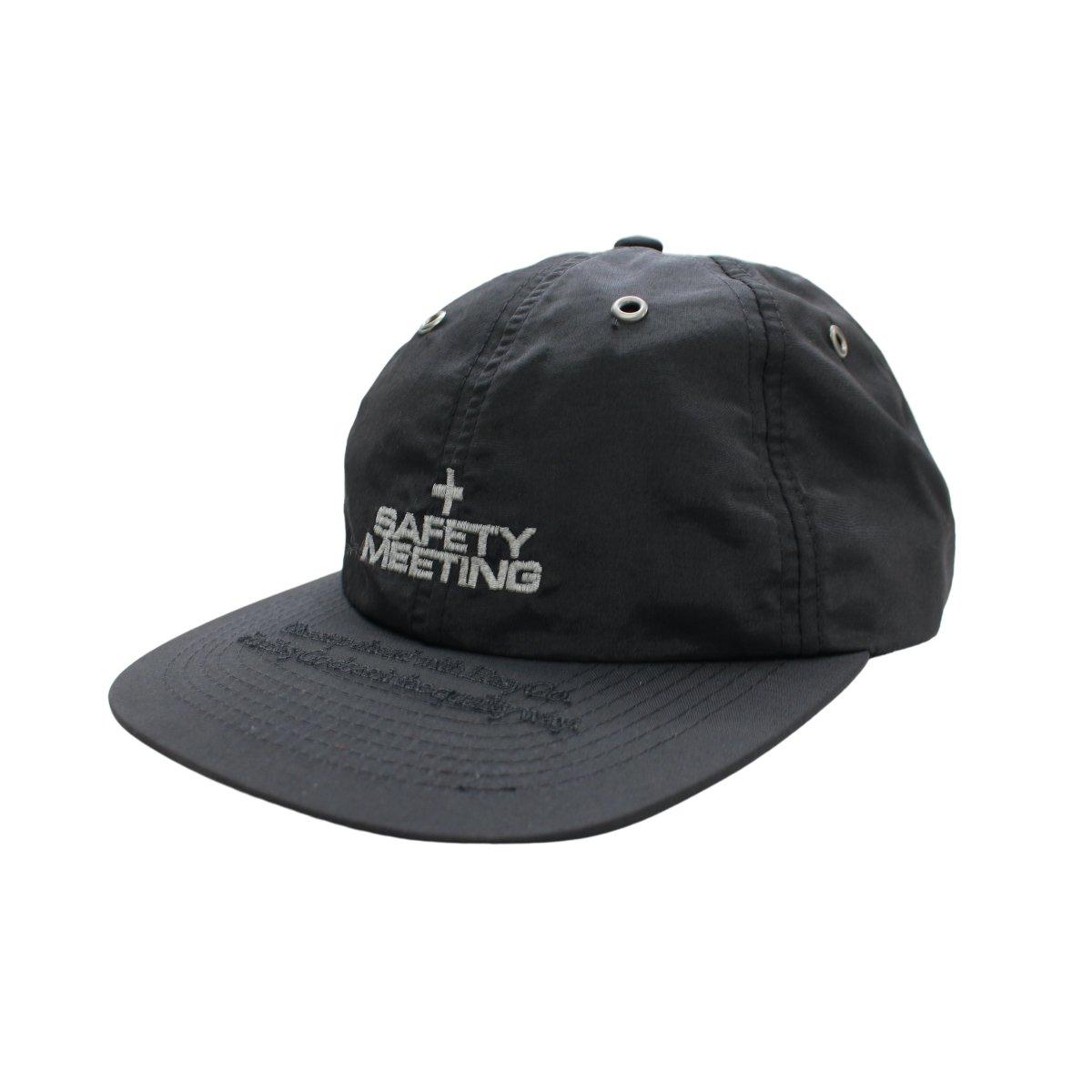 Black 4 panel hat