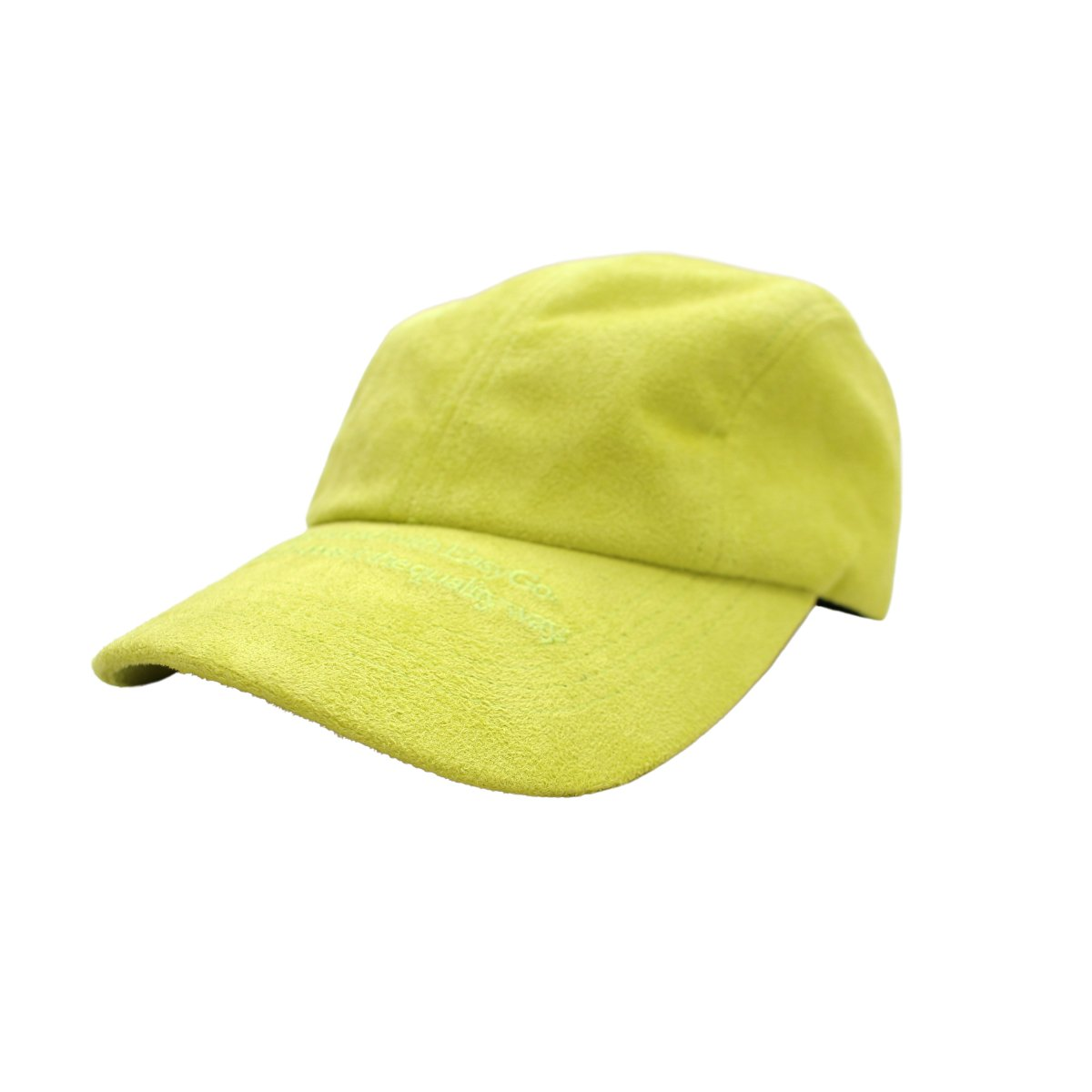 Yellow suade hat