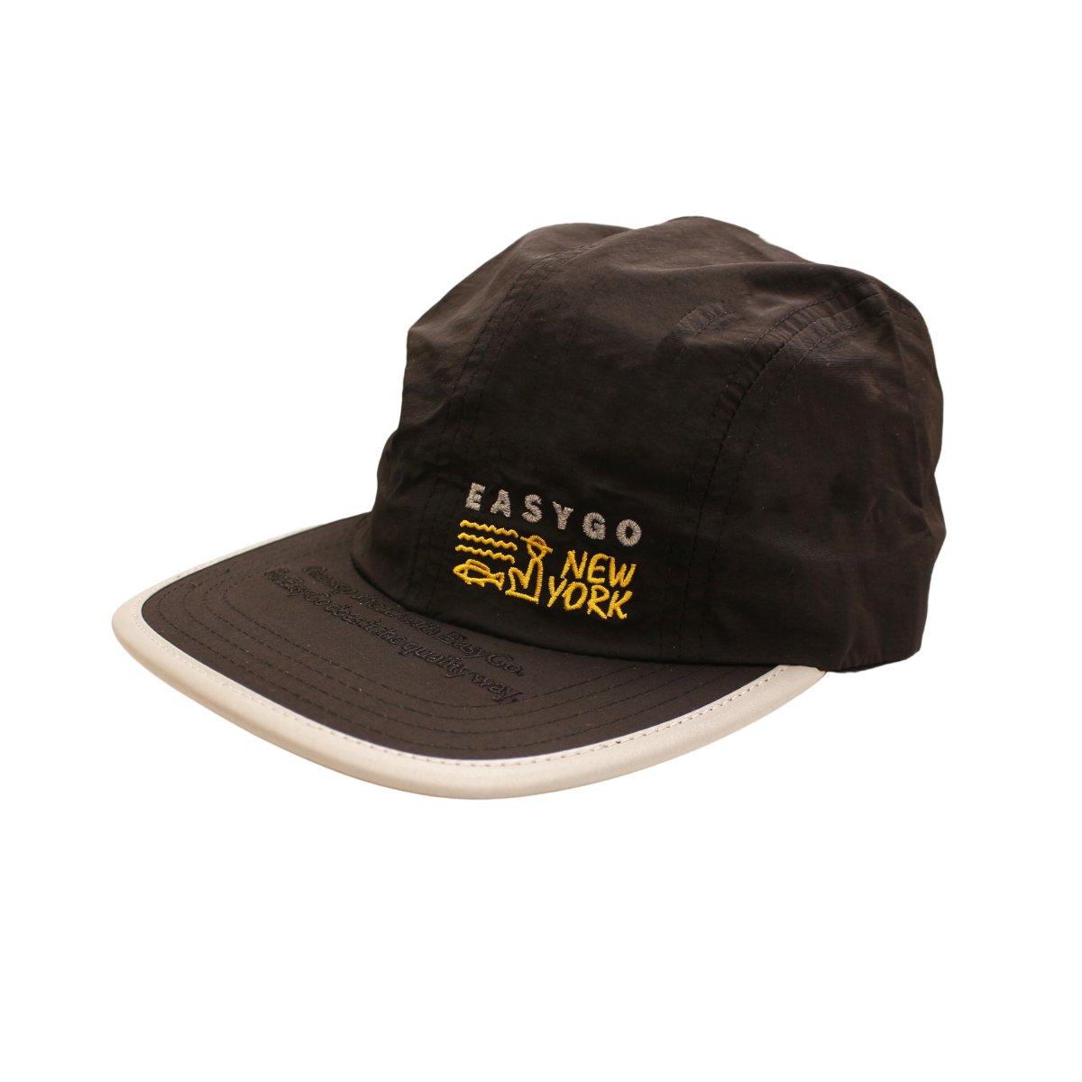 Black 6 panel hat