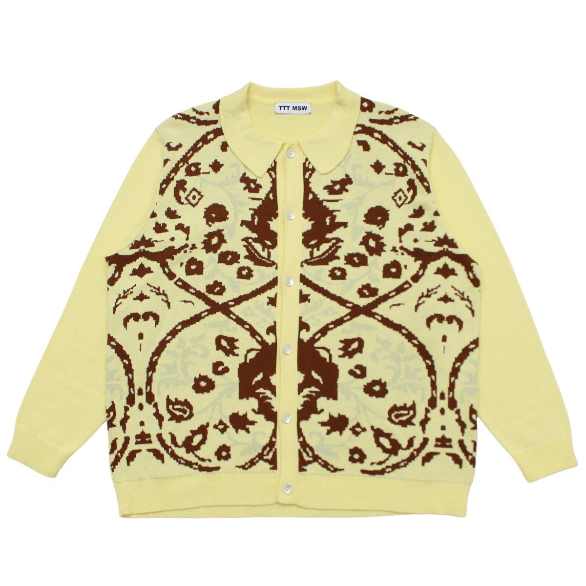 Persia knit polo shirt 【YELLOW】