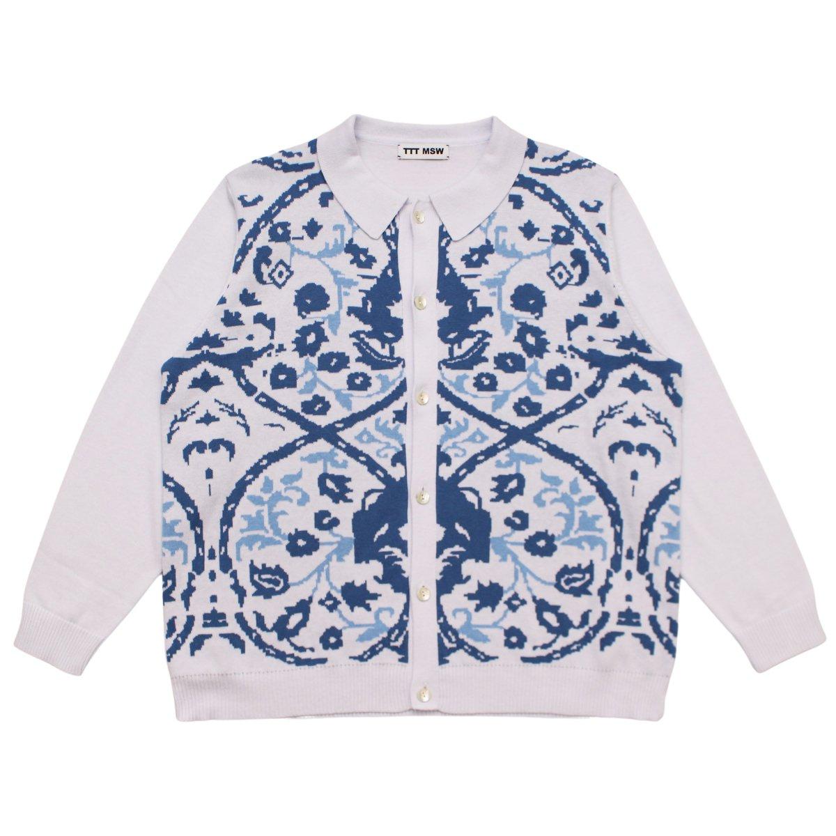 Persia knit polo shirt 【WHITE】