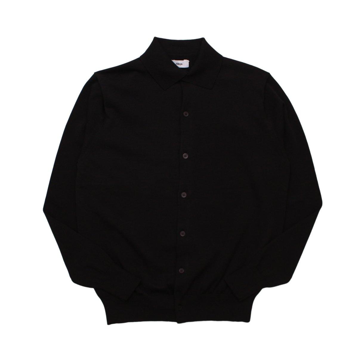 Standard Twist Yarn Cardigan 【BLACK】