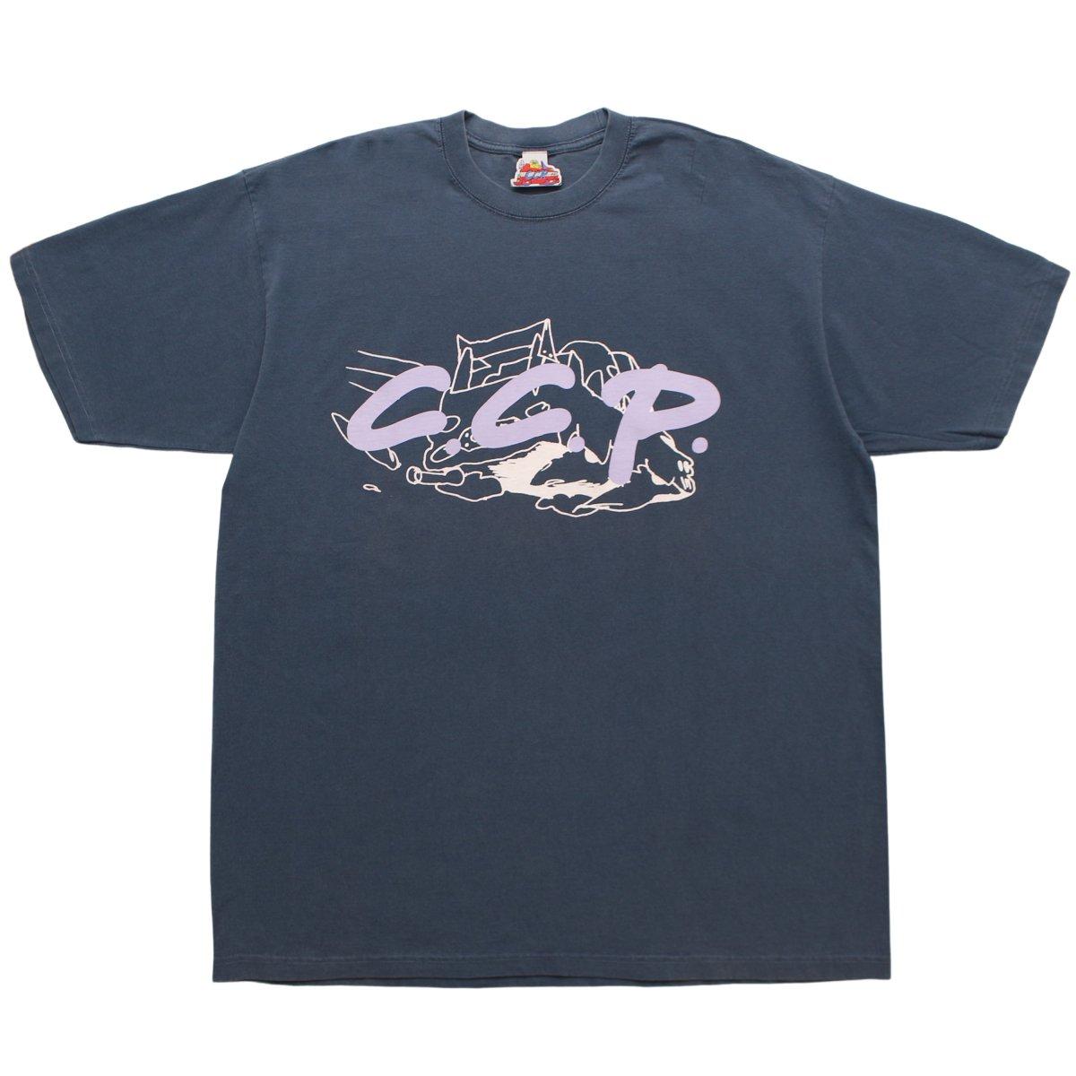 C.C.P.  Flying Logo T-shirt 【Washed Blue 】