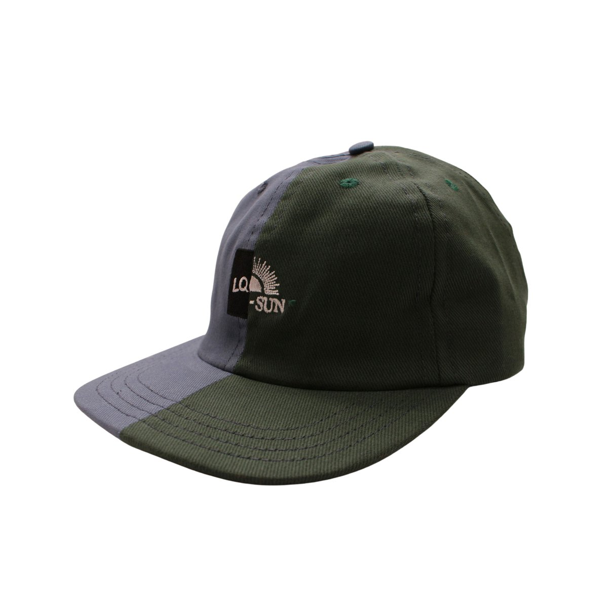 SPLIT CONSTRUCTION LOGO HAT 【MULTI】