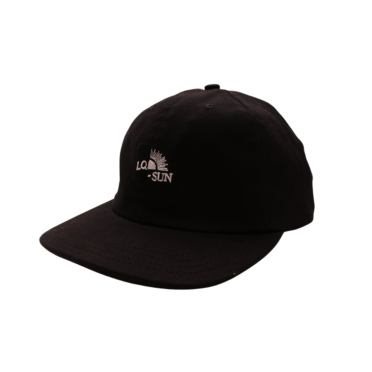 SPLIT CONSTRUCTION LOGO HAT 【BLACK】