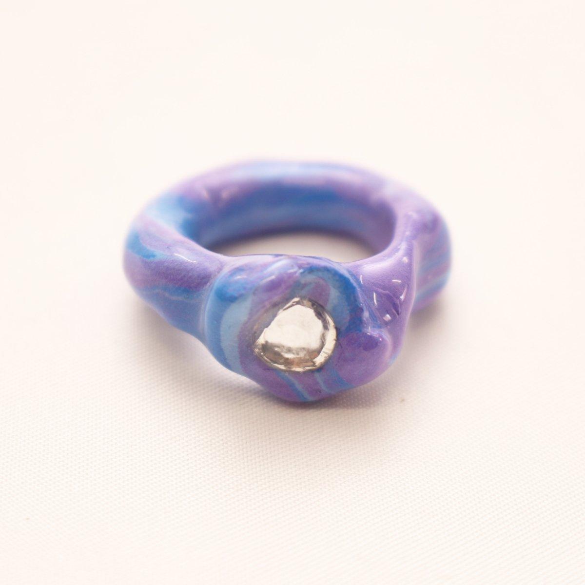 OG Blobb ring 【PURPLE×WHITE】