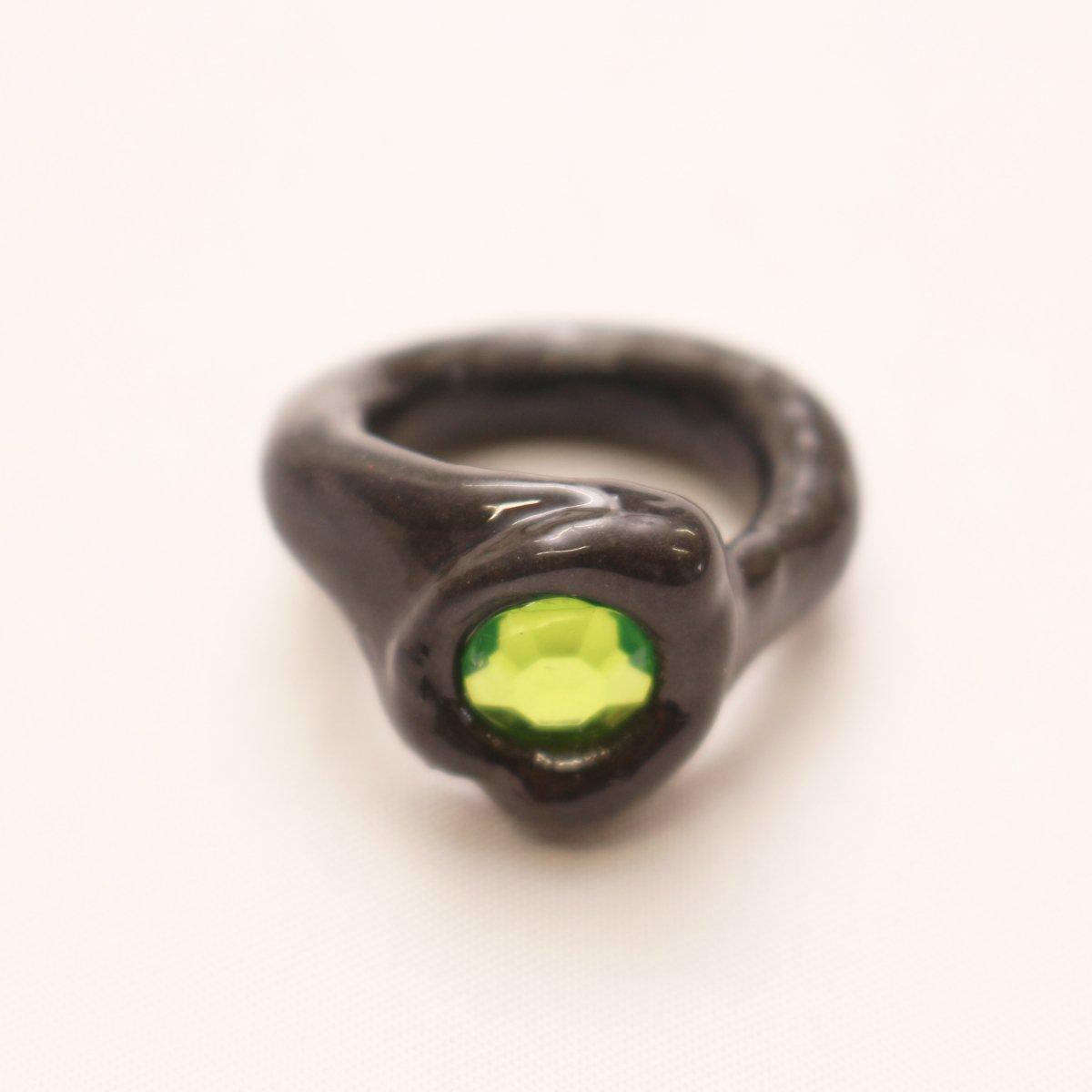 OG Blobb ring 【BLACK×GREEN】