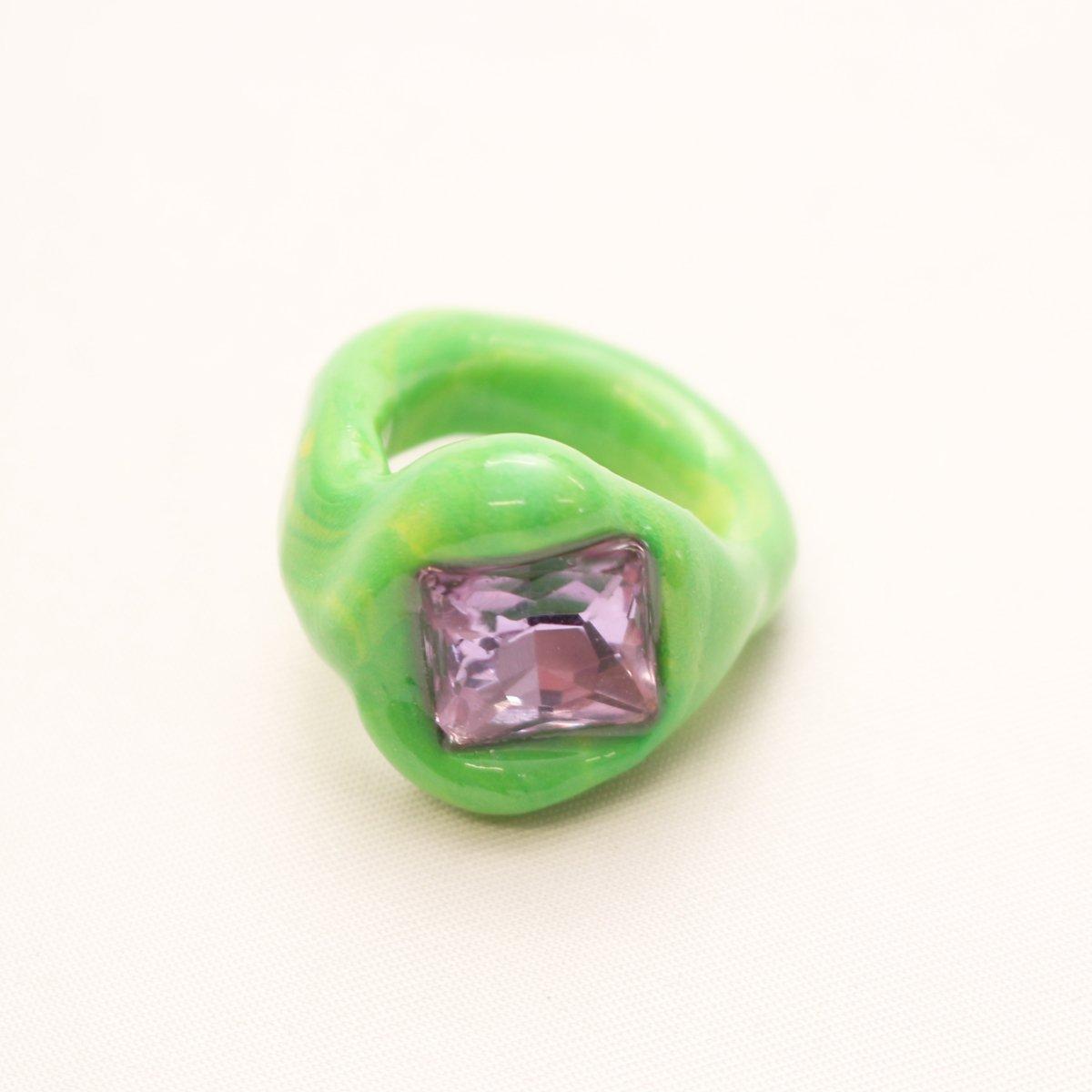 OG Blobb ring 【GREEN×PURPLE】