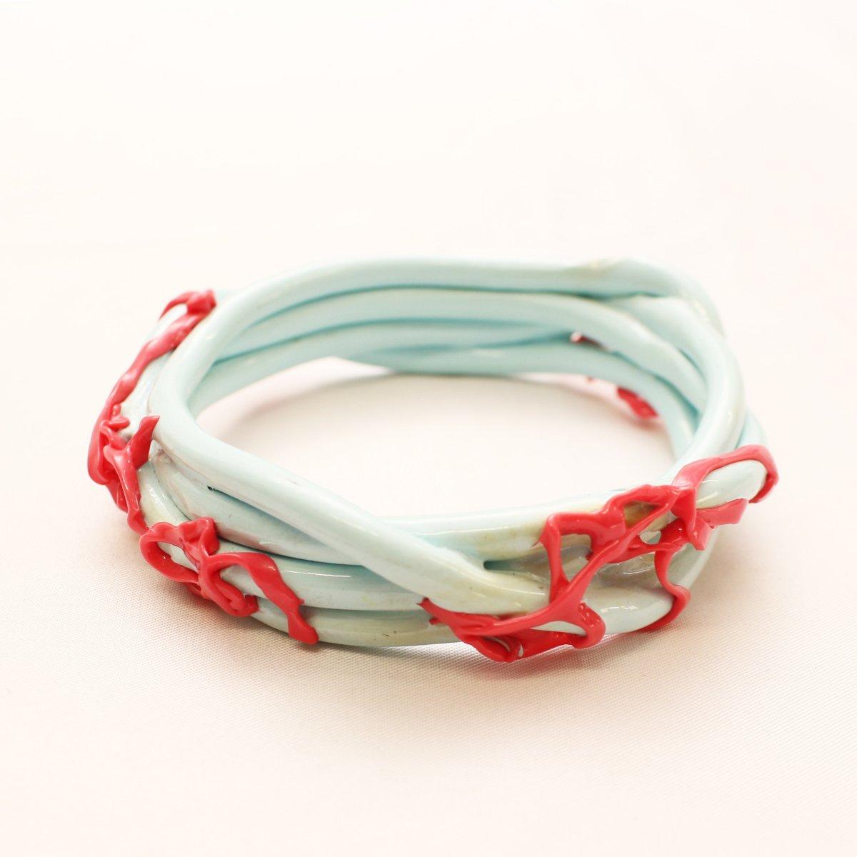 wrist bands【LIGHT BLUE×PINK】