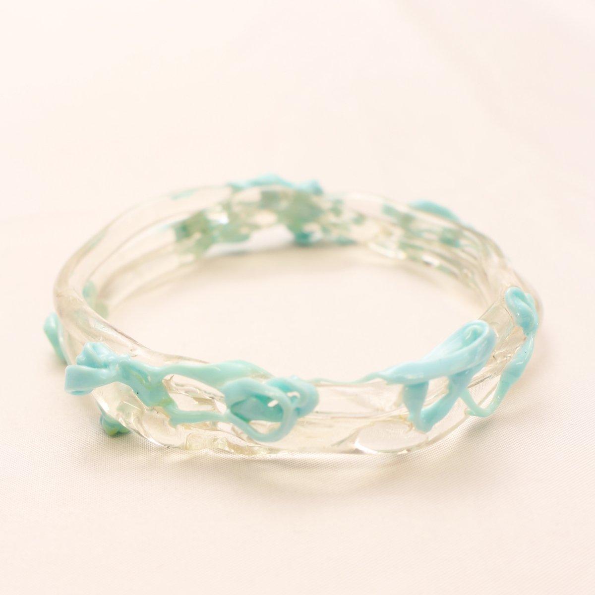 wrist bands【CLEAR×LIGHT BLUE】