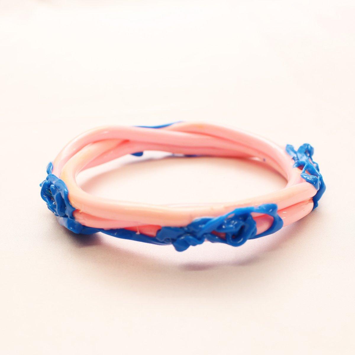 wrist bands【PINK×BLUE】