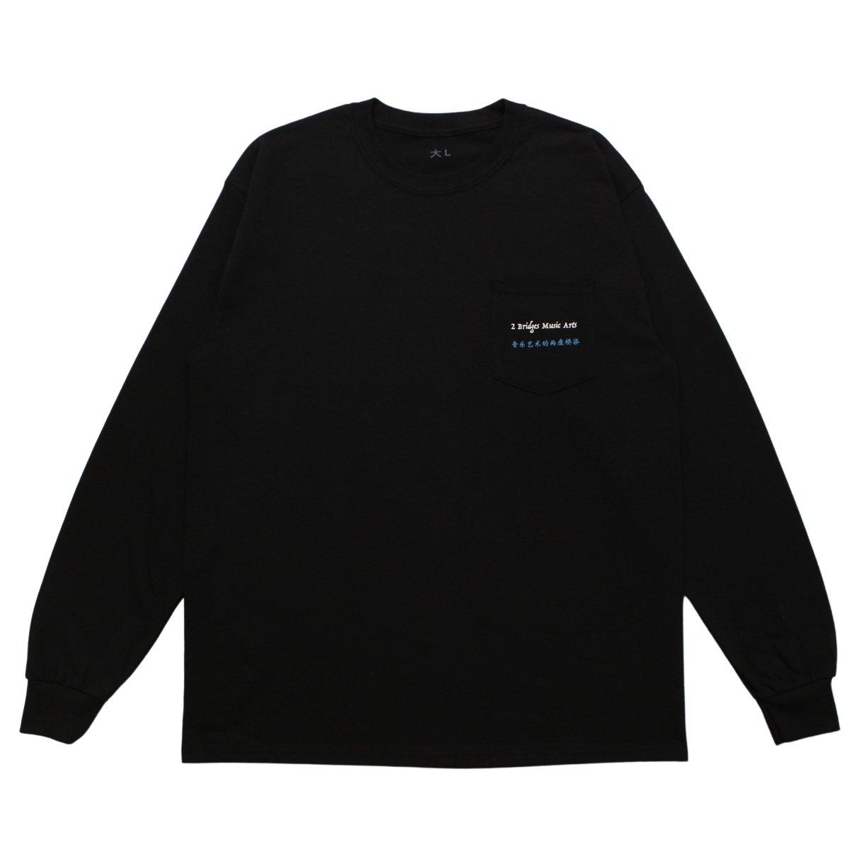 POCKET LOGO LS【BLACK】