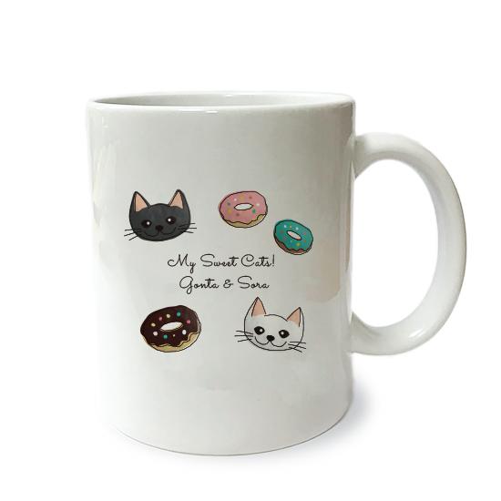 ネコさんマグM・スイーツ「複数ネコさん」