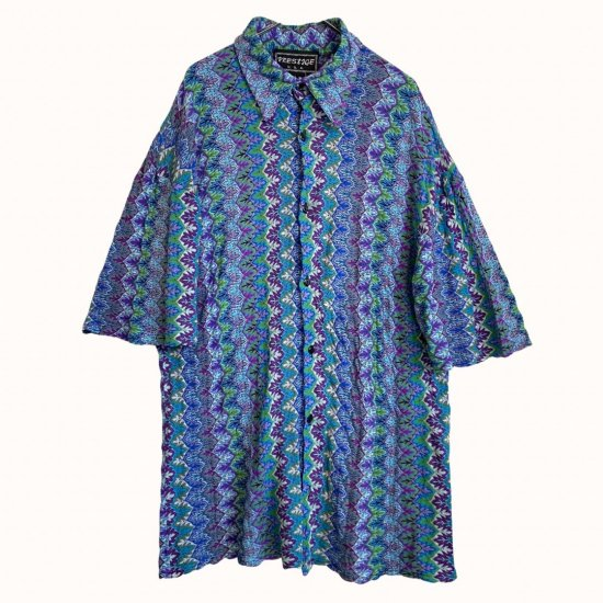 soft textile psychedelic pattern shirt