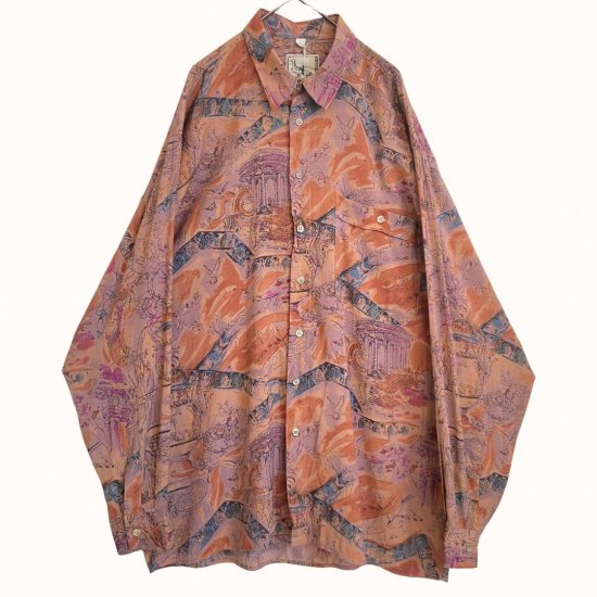 pale color classic pattern rayon shirt