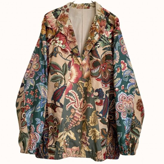 flower×paisley special patch jacket