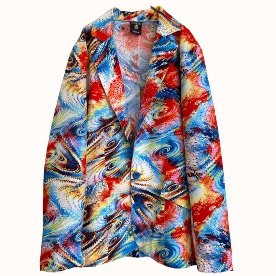 psychedelic coloring light tailored jacket
