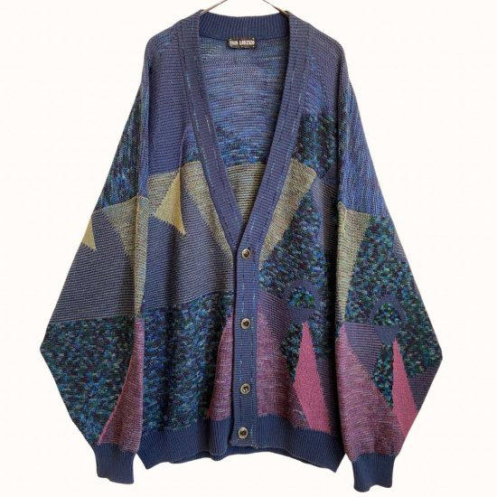 psychedelic pattern switch loose cardigan