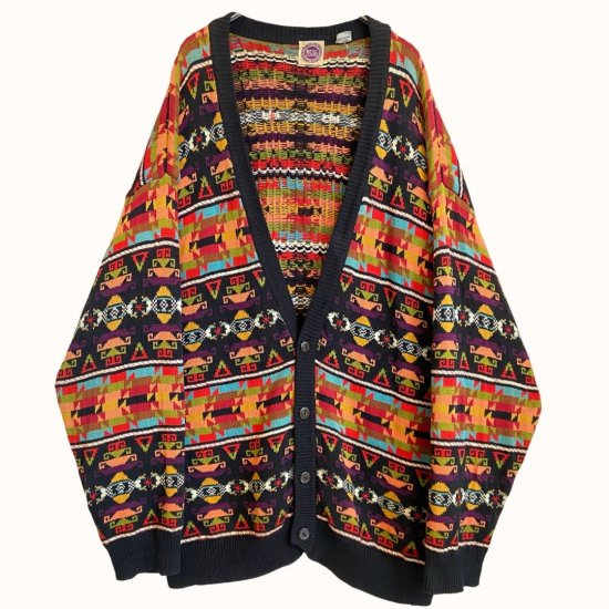 special ethnic pattern loose cardigan