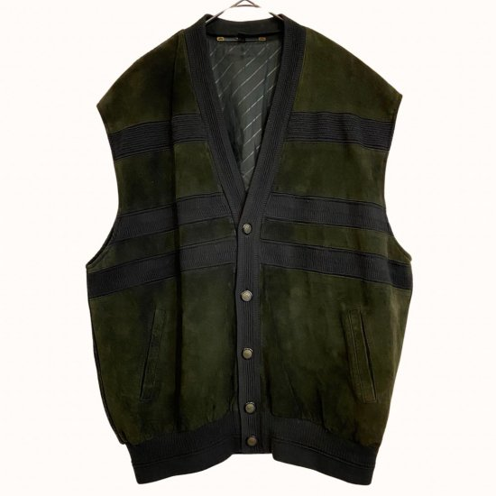 suede switch loose silhouette vest